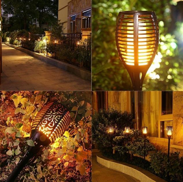 Solar LED Gartenfackel