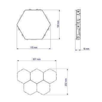 LED Hexagon Beleuchtung